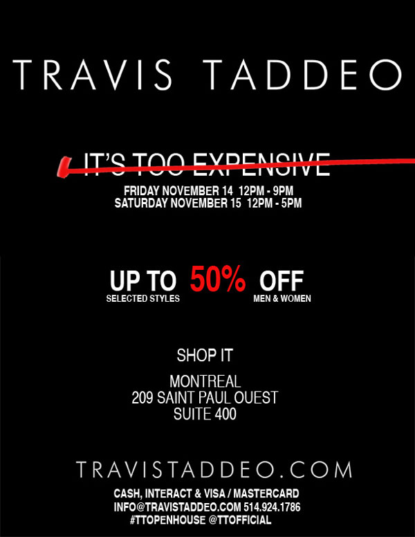 Travis Taddeo November Sale