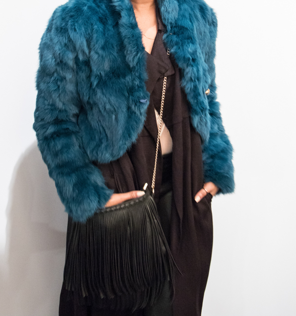 Fur DKNY Le Chateau fringe bag (1 of 1)